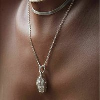 Divinely Protected Locket In Silver Or Gold Vermeil, Silver