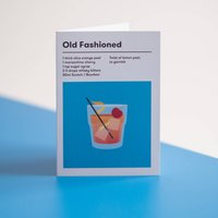 Old Fashioned Cocktail Card