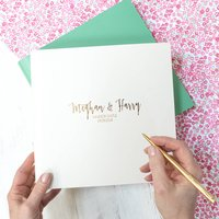 Decadent Large Leather Guest Book