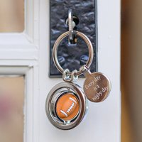 Personalised Spinning Rugby Ball Keyring