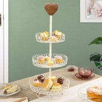 Country Heart Triple Tier Cake Stand