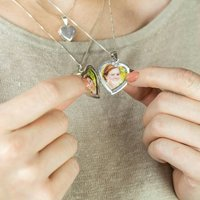 Large Sterling Silver Heart Locket, Silver
