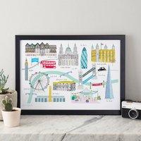 London Landmarks Art Print