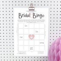 Personalised Bridal Bingo Hen Party Game To Print