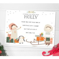 Children's Christmas Thank You Note Cards