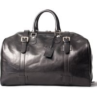Large Leather Weekend Travel Bag. The Flero L, Chestnut/Tan/Dark Chocolate