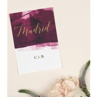 Grace Berry And Gold Wedding Table Name Cards