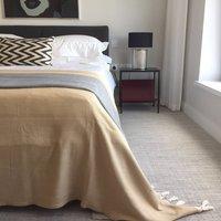 Handwoven Cotton Herringbone King Size Blanket