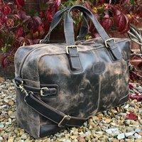 Brown Vintage Leather Holdall, Travel Bag, Gym Bag