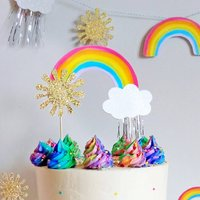 Jolly Rainbow Double Sided Cake Topper