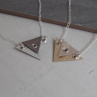 Double Triangle Leather Necklace