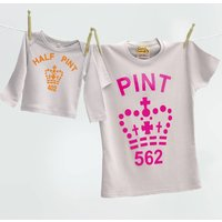 Mummy And Me Pint Half Pint T Shirt Set