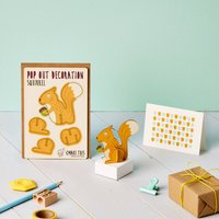 Pop Out Squirrel Greeting Card