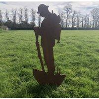 Lest We Forget Soldier Garden Statue Decoration Feature