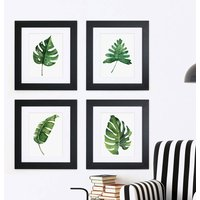 Set Of Four Framed Botanical Prints