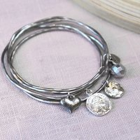 Coin Stacking Bangles, Silver/Gold/Rose Gold
