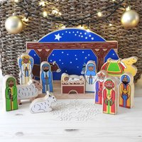 Deluxe Starry Night Nativity Set