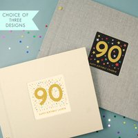 Personalised 90th Birthday Photo Album