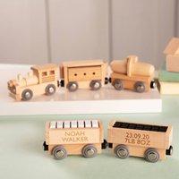 Personalised Wooden Christening Train Set