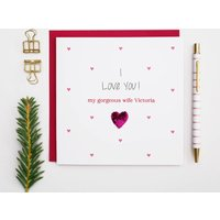 Valentines Day Personalised 'I Love You' Card