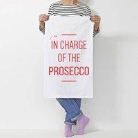 Personalised 'In Charge Of' Tea Towel