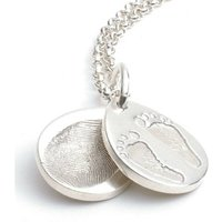 Ten Tiny Toes Teardrop Locket Necklace