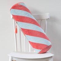 Velvet Stripe Bolster Cushion