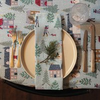 Luxury Designer Christmas Napkin Sets Snowy Day