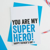 Super Hero Dad Fathers Day Card