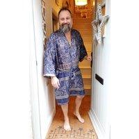 Unisex Upcycled Sari Silk Kimono Long