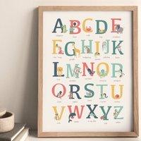 Animal Alphabet Print A To Z Kids Bedroom Print