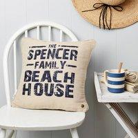 Personalised Beach House Cushion