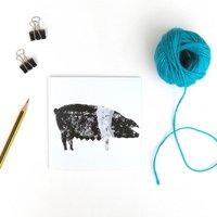 British Saddleback Pig Greetings Cards