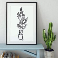 Trendy Cactus Print