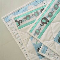 Baby Blanket, With Cute Elephant Fabrics
