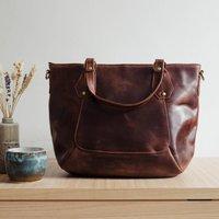 Leather Handbag, Crossbody Shoulder Bag Brown