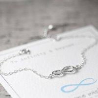Infinity Symbol Sterling Silver Bracelet, Silver