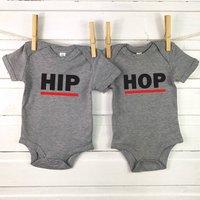 Hip Hop Baby Vest Set For Twins