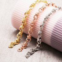 Twist Chain Bracelets In Gold, Silver Or Rose Gold, Silver