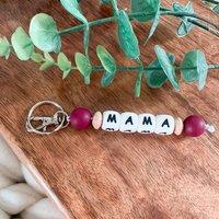 Handmade Plum Mama Keychain | Handbag Charm | Mum Gift