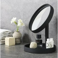 Dark Oak Contemporary Magnify Mirror