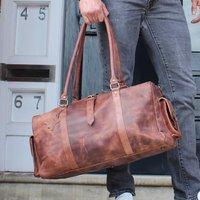 Drake Leather Holdall Weekend Bag In Vintage Wax