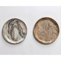 Handmade Ceramic Marble Platter 24cm