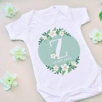 Green Floral Name Vest
