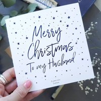 Christmas Card | For My Husband | Personalised