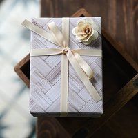 Bamboo Weave Print Gift Wrap Set