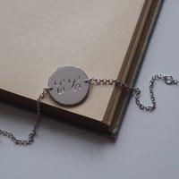 Double Initial Bracelet In Sterling Silver, Silver