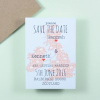 Floral Map Save The Date
