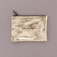 Throw Some Glitter Zipper Pouch Clutch Or Make Up Bag