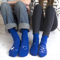 Personalised His And Hers Paper Aeroplane Socks